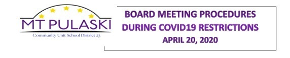 Board Meeting Procedural Changes