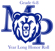 Year Long Honor Roll - Grades 6 through 8