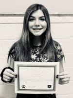 November 8th Grade Student of the Month