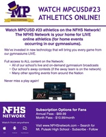 MPCUSD #23 Athletics - Online Subscription-Based Viewing